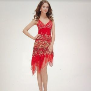 Dresses & Skirts - Ever Pretty Flowing Red Lace Cocktail Dress